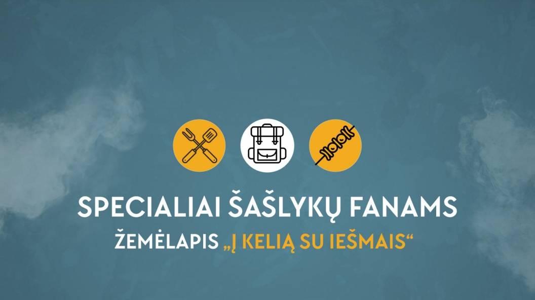 """Specialiai šašlykų fanams – žemėlapis """"Į kelią su iešmais"""""""