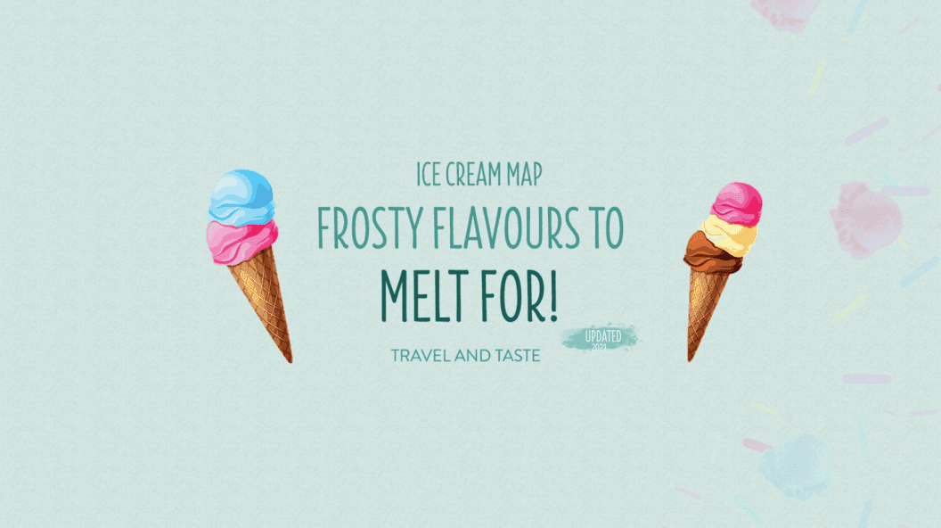 Frosty flavours to melt for: Ice cream map